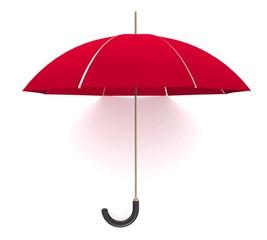 3d Red umbrella