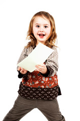 Mädchen mit Kuvert