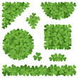 Shamrocks decorations isolated on white background