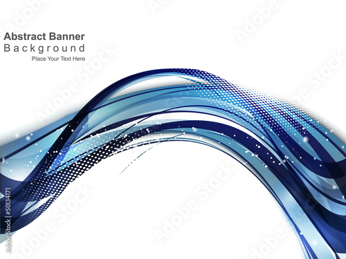 abstract blue wave background with gurnge