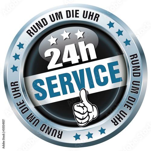 Button - 24h Service - Rund um die Uhr