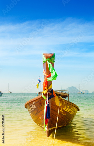 Traditional longtail boat , Krabi,Thailand