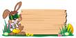 Easterbunny wooden Board