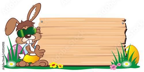 Easterbunny wooden Board