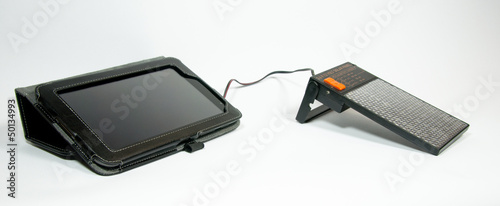 Tablet computer with a solar charger