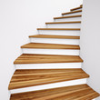 canvas print picture - Wooden Stairs