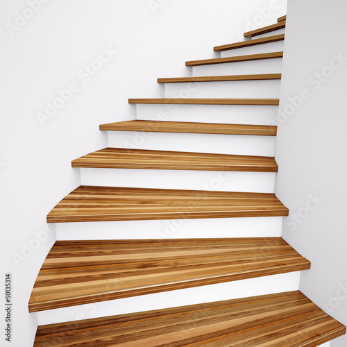 canvas print picture Wooden Stairs