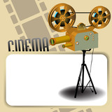 Movie projector and blank frame