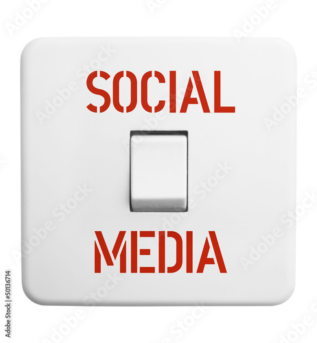 social media concept,vintage swtich, isolated