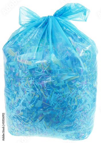 Transparent Plastic Bag with Paper Shreddings