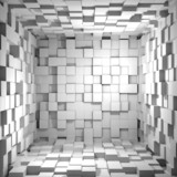 Fototapety Cube room 3d - background
