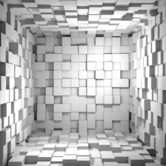 Cube room 3d - background © Dreaming Andy
