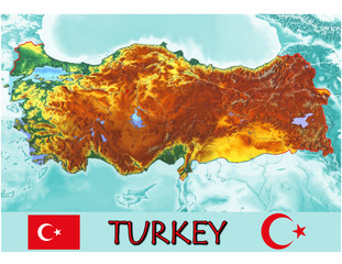 Turkey Asia Europe national emblem map symbol motto
