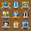 Soccer team emblems labels EPS 10