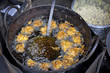 Indian vada (cake), fried in the oil, street food