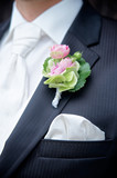 Flower on a Tux of a Groom poster