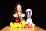 ernährungsbewusste junge Frau