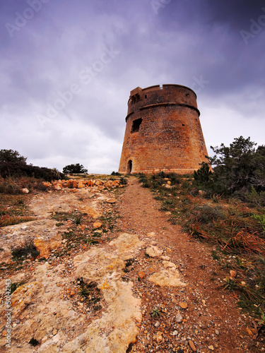 Torre de sa Sal Rossa, Ibiza, Balearic Islands, Spain