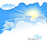 Fototapety Divine Background - Sun in the Cloud