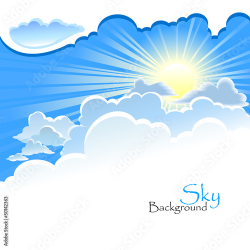 Divine Background - Sun in the Cloud