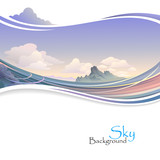 Island in Ocean and Vast Sky poster