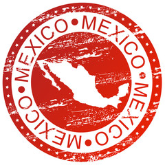 Stamp - Mexico, with map