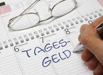 Kalender Tagesgeld