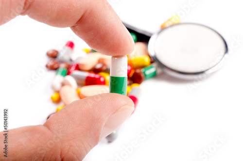 Pill in the hand