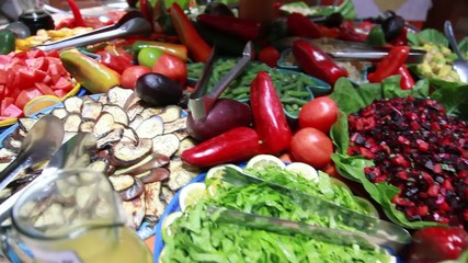 Vegetables and fruit salad