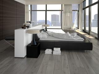 luxus schlafzimmer mit ausblick