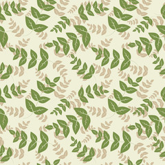 Seamless pattern with leaf, abstract leaf texture