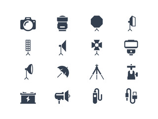 Photo equipment icons