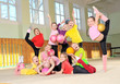 Group of  sporty girls in gym
