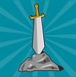 Sword stuck into stone
