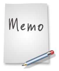 "Paper & Pencil Illustration ""Memo"""