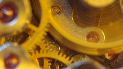 Clockwork extreme closeup.