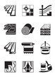 Decoration materials for interior - vector illustration - 50149958