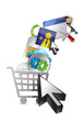 shopping cart. abstract media concept