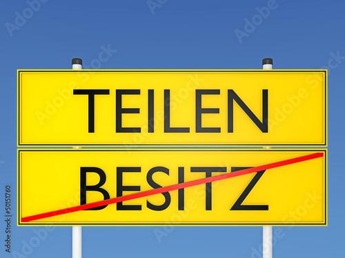 TEILEN vs BESITZ - 3D