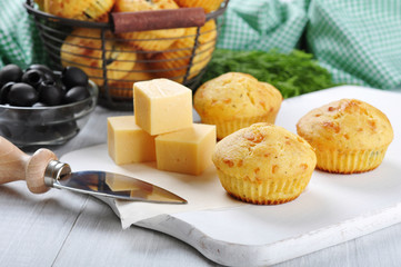 Homemade cheese muffins