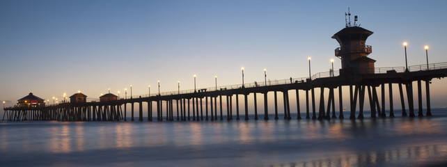 huntington beach pier panorama