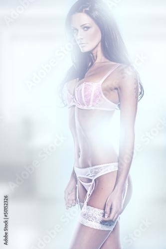 Artistic portrait of a woman in lingerie
