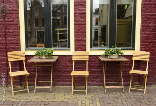 outdoor cafe in the Netherlands