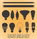 Vector Set: Light Bulb Silhouettes