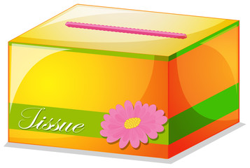 A colorful tissue box