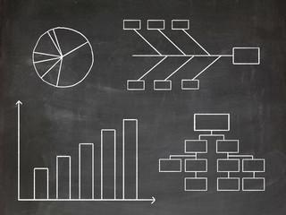 Infographics chalkboard