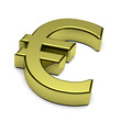 3D Euro currency sign isolated on white