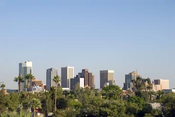 Downtown Phoenix Arizona City Skyline