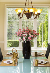 Formal Dining Room Setup for Tea and Snacks
