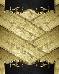 Abstract background with a beautiful edges and gold trim